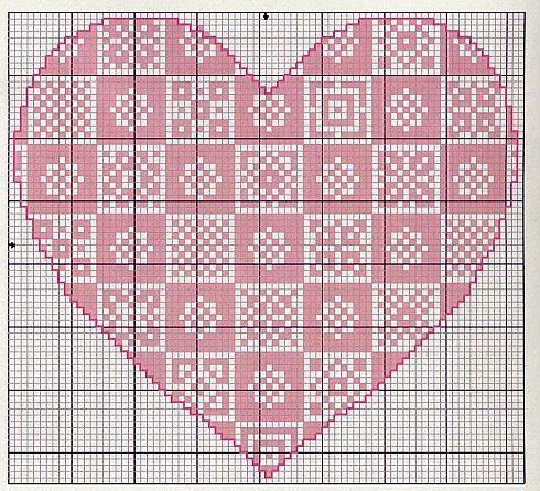 Gallery.ru / Фото #24 - Monocromatico - Blackwork - mantecada Folklore Heart chart 4