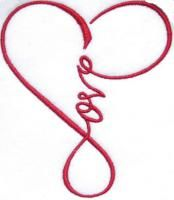Love Heart Infinity Embroidery Design