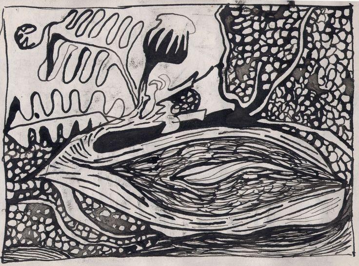 Seed Bed 1990 Pen & Ink Illustration