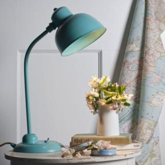 The sweet Newark #Desk #Lamp in #Duck Egg #Blue made by Jim Lawrence . This beautiful vintage look lamp is perfect for creating a country look in your home.