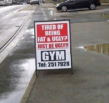 Funny Gym Sign