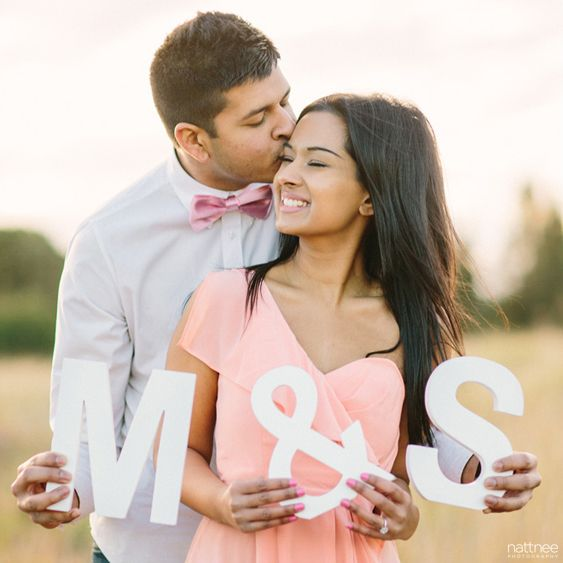 A Peachy Summer Engagement Session by Nattnee Photography