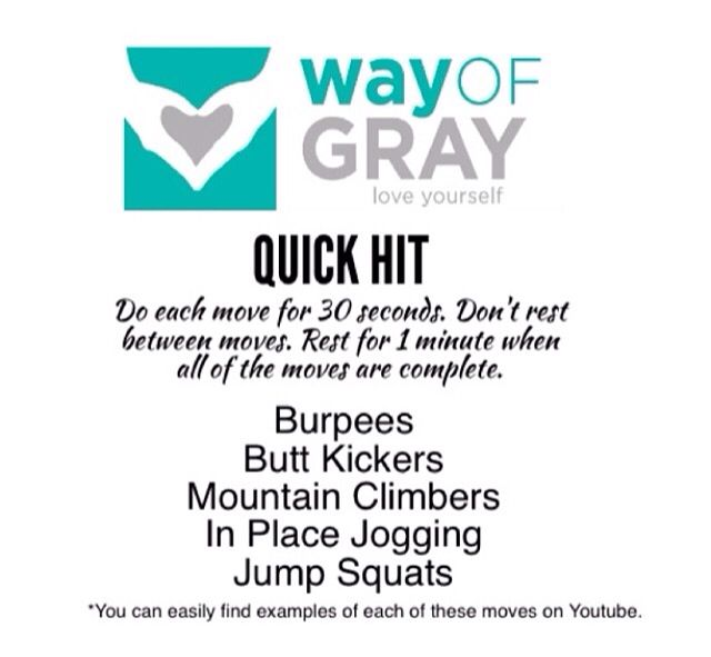Way of gray quick hiit workout