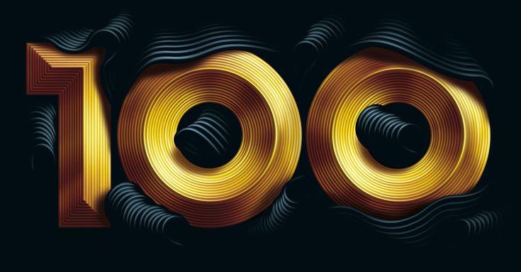 100: 100 Richest, Artists, Istvan Szugyiczki, Hedges Fund, Typography Design, Cinema 4D, Graphics Design, Typography Inspiration, Marketing Magazines