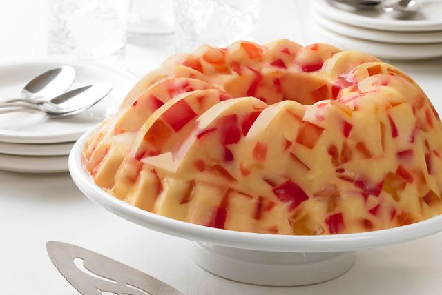 JELL-O Gelatin is made with milk to create a delicious creamy sweetened fruit flavor.