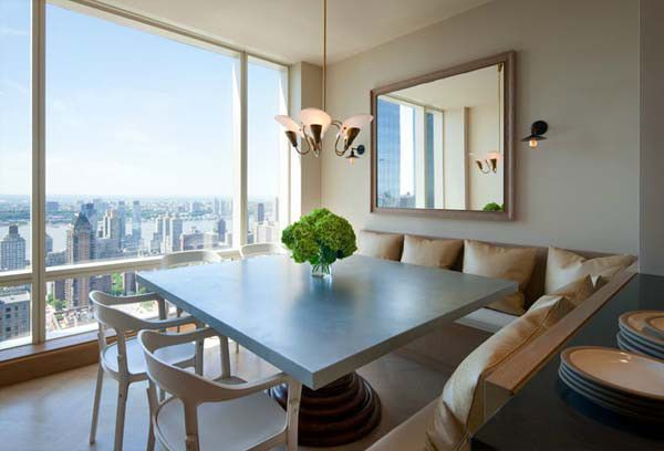 Soothing New York Apartment Central Park Home | Interior Design Simple design, a way to decorate the apt.