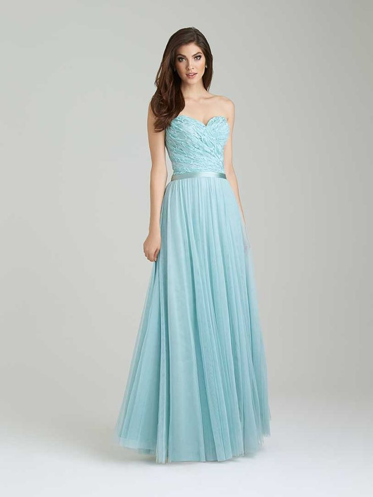 Allure Bridesmaids dress in Waterfall- I think this is actually really pretty as a something-blue wedding gown!