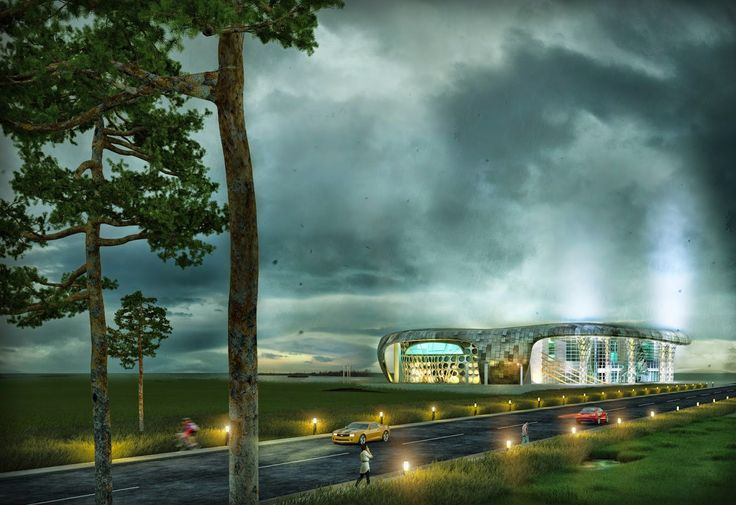 Haarchitect: Дворец водных видов спорта + коворкинг центр в Бресте вблизи озера Большие Сои Вкусные экстерьеры, нервосберегающие интерьеры