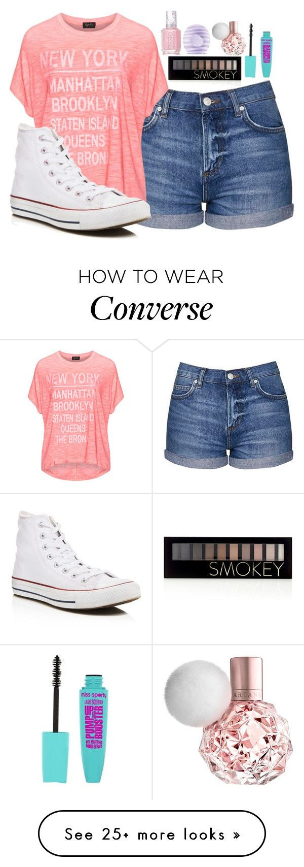 """""""Simple Outfit"""" by alove1812 on Polyvore featuring Topshop, Replace, Converse, Forever 21, Eos, Essie and AubreysCuteSets"""