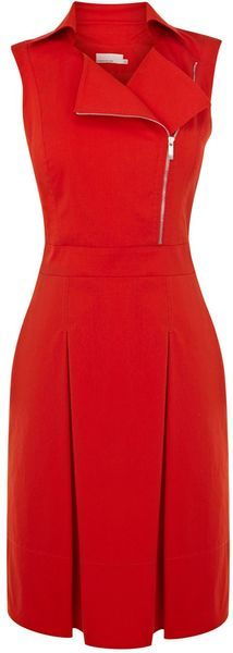 Zip Biker Dress - KAREN MILLEN ENGLAND