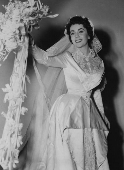 "Elizabeth Taylor in Father of The Bride, a month before her wedding to Conrad ""Nicky"" Hilton, 1950."