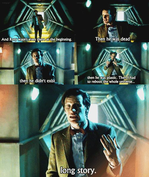 """Rory's life in series 5 summed up in one sentence."" Doctor Who, science fiction"