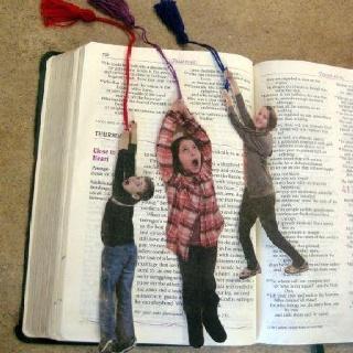 Kids action shot bookmarks