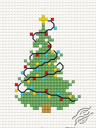 Free+Fall+Cross+Stitch+Patterns+Small | FREE PATTERNS - Christmas & New Year - Christmas Tree IV - Gvello ...