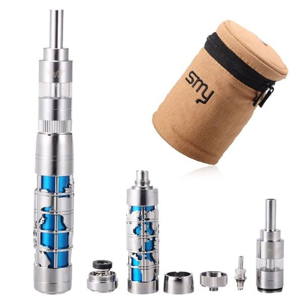 Smap Mod Stylish Global Map Modelling Mechanical Electronic Cigarette with S4000 5.5ml Detachable BCC Atomizer - Chrome & Blue