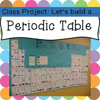 Free template to make your own class periodic table!