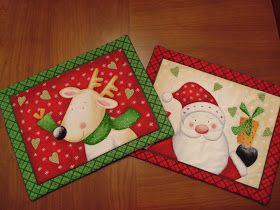 Patchwork y manualidades: Individuales navideños divertidos