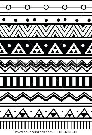 Abstract geometric seamless pattern. Aztec style pattern with triangle and line by zubarevid, via ShutterStock