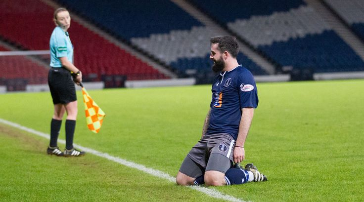 Queen's Park's Bryan Wharton celebrates his goal during the Scottish Cup round 4 replay between Queen's Park and Ayr United.