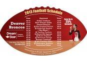 4x7 in One Team Denver Broncos Football Schedule