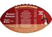4x7 in One Team Denver Broncos Football Schedule