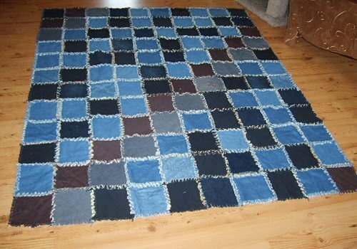1000+ images about blue jean rag quilt on Pinterest Throw rugs, Shirt quilts and Blankets