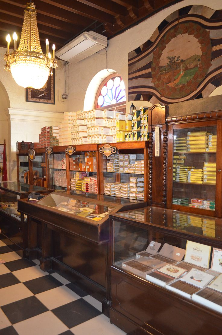 and cigars in old shops