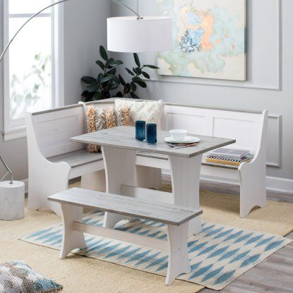 Finley Home Nantucket Coastal Nook Dining Set - Dining Table Sets at Hayneedle