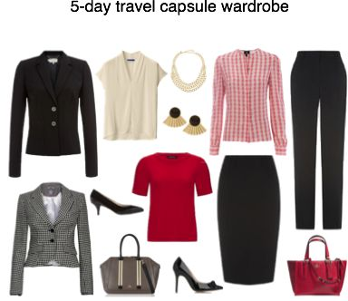 13 piece capsule wardrobe giving you 10 outfits over 5 days.