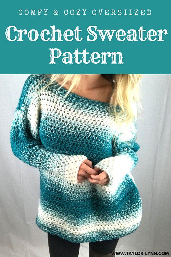 Comfy & Cozy Oversized Crochet Sweater Pattern 3