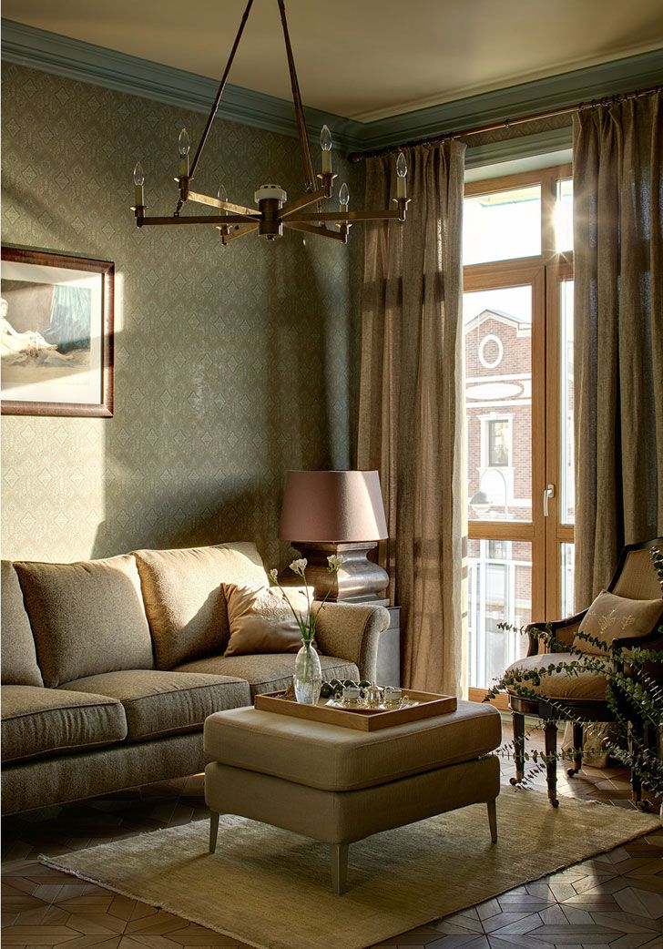 Спокойный и изысканный интерьер таунхауса в Москве   Пуфик - блог о дизайне интерьера