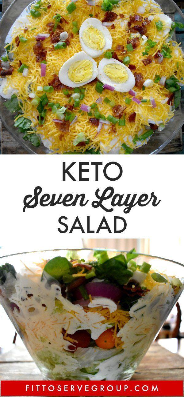 Keto Layered Salad Layered Salad Recipes Keto Recipes Easy Keto Diet Recipes