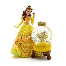 Belle Beauty and Beast snowglobe snow globe Disney Store Disneyland Paris NEW