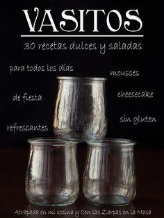 30 grandes recetas en pequeñas presentaciones de los blogs gastronómicos Atrapada en mi cocina y Con las Zarpas en la Masa