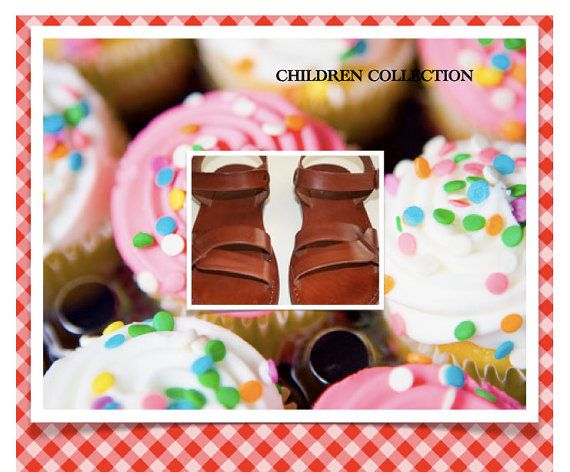 Children Leather Sandals  Circle Design by SANDALI on Etsy, $40.00: Circles Design, Circle Design, Sandals Circles