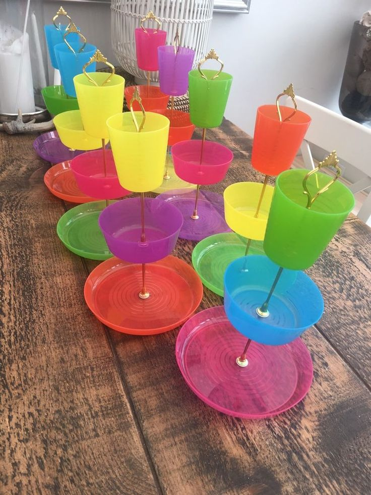 9 X Children's Party, Afternoon Tea, Cake Stands,Tea Party, Plastic Cake Stand