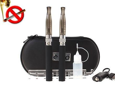 Super oferta noul Kit dublu eGo H2 cu baterii 600mAh! BONUS: 2 sticlute e-lichid 10ml; 2 Clearomizor CE4!