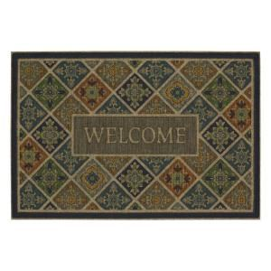 Mohawk Home Tile Garden Welcome Impressions 24 in. x 36 in. Door Mat 551872 at The Home Depot - Mobile