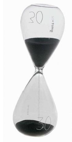 Seletti Clessidra in vetro con sabbia nera durata 30 minuti