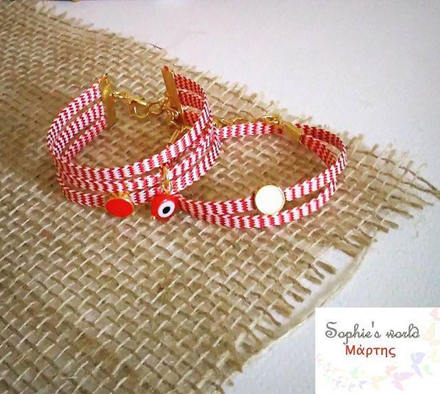 Για να κάνετε την διαφορά  δυο ξεχωριστά σχέδια σε μαρτακια διπλό κ τριπλό με περαστα στοιχεια επίχρυσα  #unique  #handmade #redwhite #marchbracelet #bracelets #martis #instahandmade #fashionaccessories #bedifferent #beyou #jewelrygram #handmadefashion για πληροφορίες στην διάθεση σας
