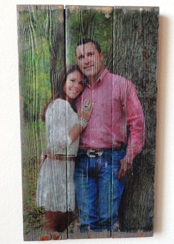 Custom Photo on Reclaimed Wood Unique Rustic Portrait Gift $44.95 I by BellaRemiDesigns on Etsy