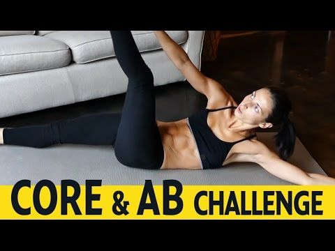 Abs & Core Workout At Home - 6 Exercises - No Equipment - YouTube