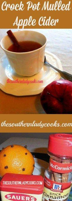 Crock Pot Mulled Apple Cider