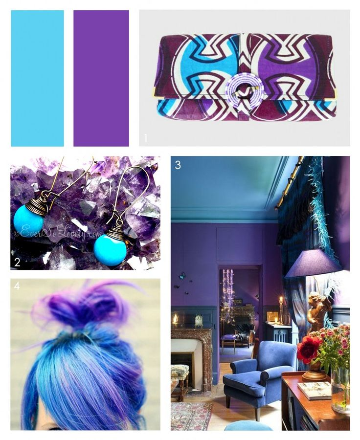 Robins Egg Blue & Playful Purple = ELECTRIC #colorcombo