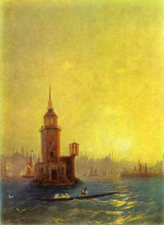 Ivan Aivazovsky,View of the Leander Tower in Constantinople