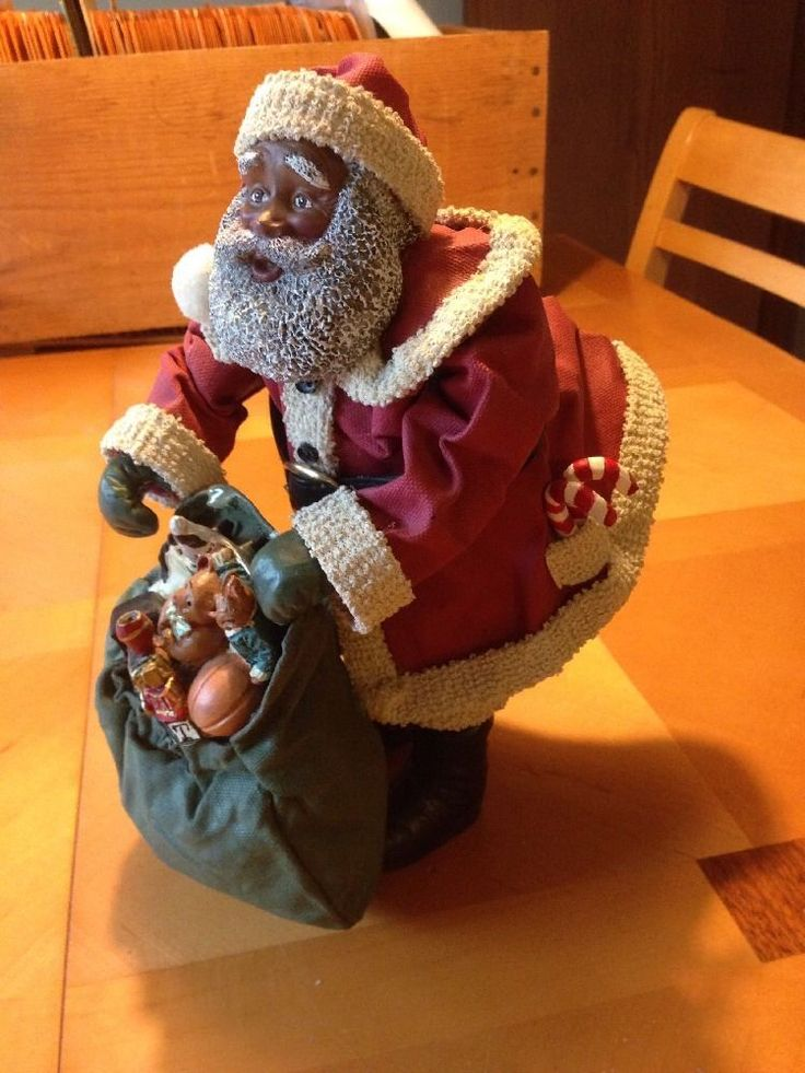 Best images about african american black santas and