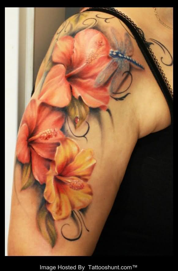 25 best 3d flower tattoos ideas on pinterest pink for Dragon lily tattoo