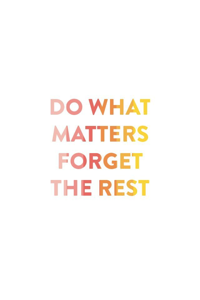 Do What Matters, Forget the Rest || Emily Ley