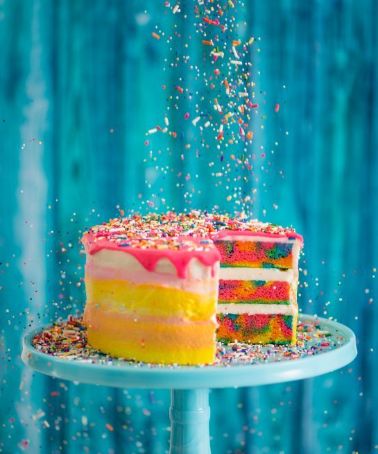 Watch Baked By Melissa show us how to make her magical, tie-dye cake. It's better than any birthday funfetti.