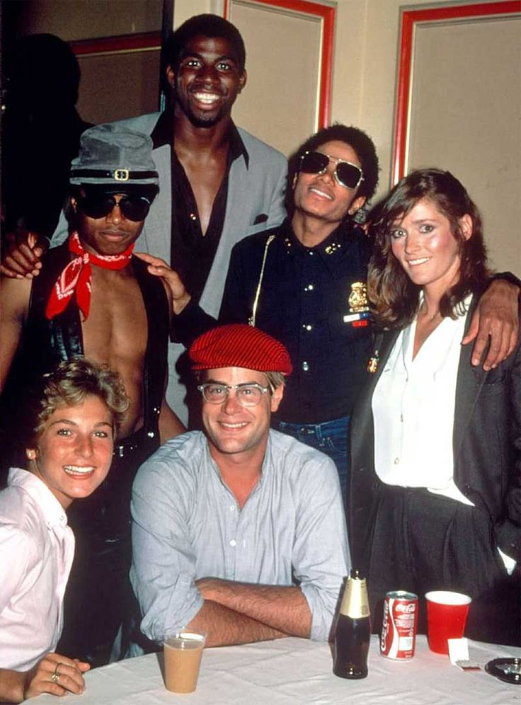 Randy Jackson Magic Johnson Michael Jackson Margot Kidder Tatum O'Neal an Dan Aykroyd 1982